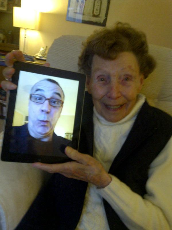 mum with ipad