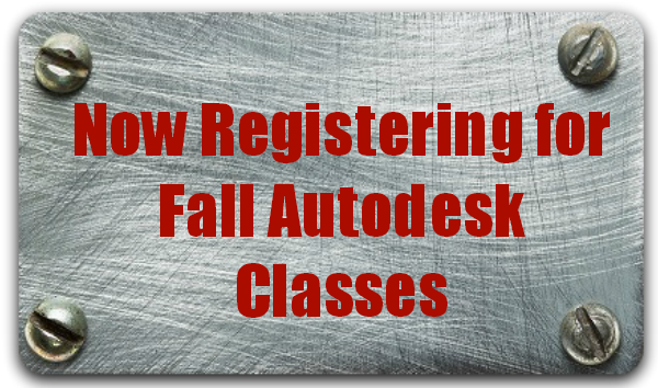 Fall Autodesk Classes