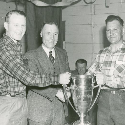 Archival photo forestry safety award presentation