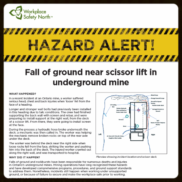 Thumbnail of Mining Hazard Alert