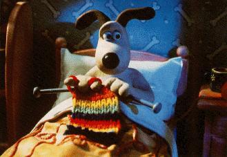 gromit knitting