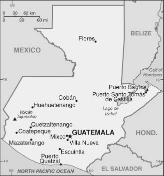 Map of Guate