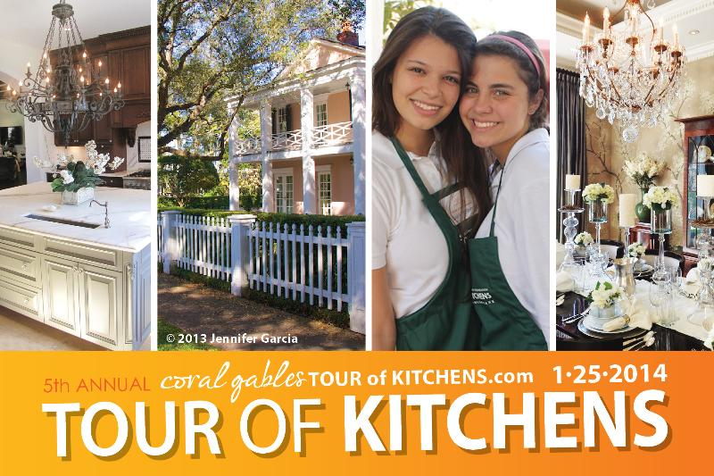 2014 Coral Gables Tour of Kitchens flyer front