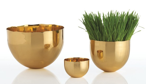 Brass Bowls: DwellStudio.com