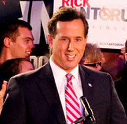 Santorum victory speach