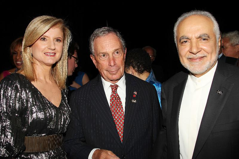 Partying together: Huffington, Bloomberg and Rauf