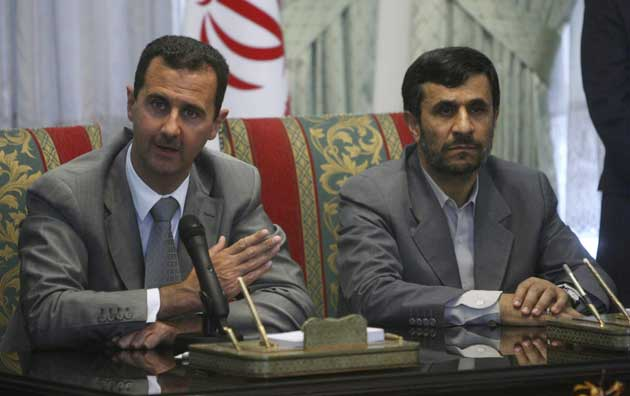 Presidents Assad and Ahmadinejad