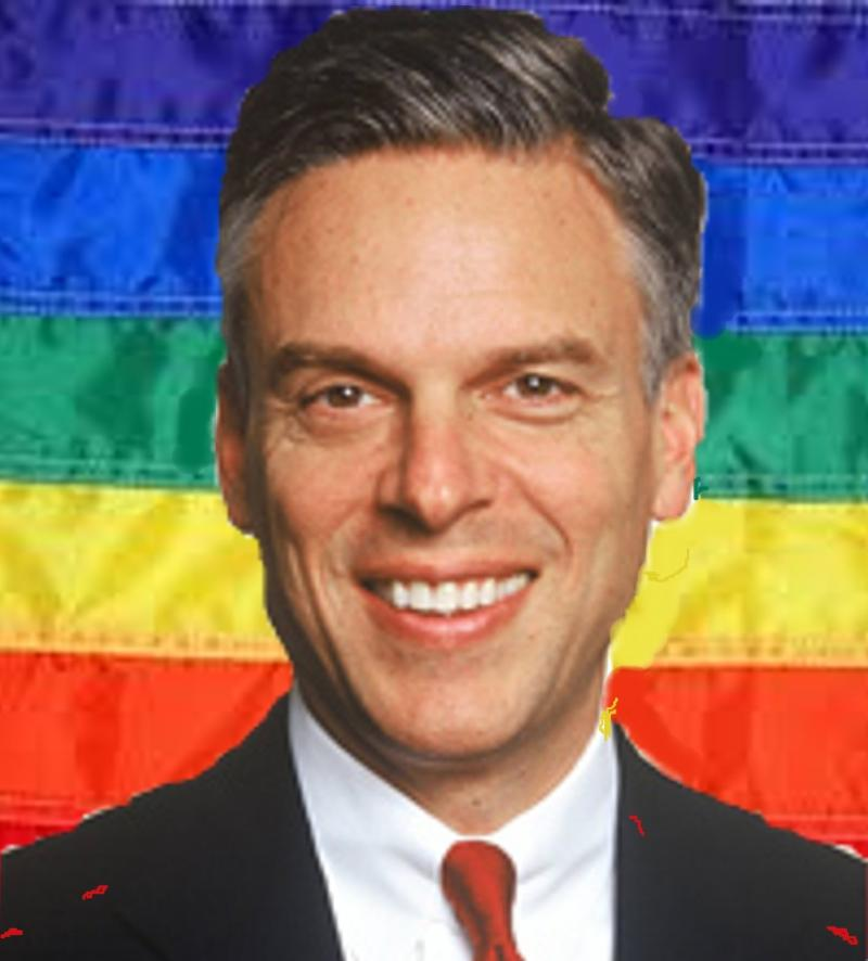 Jon Huntsman gay flag