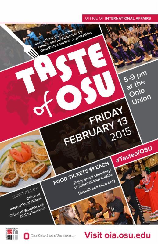 Taste of OSU 2015 poster