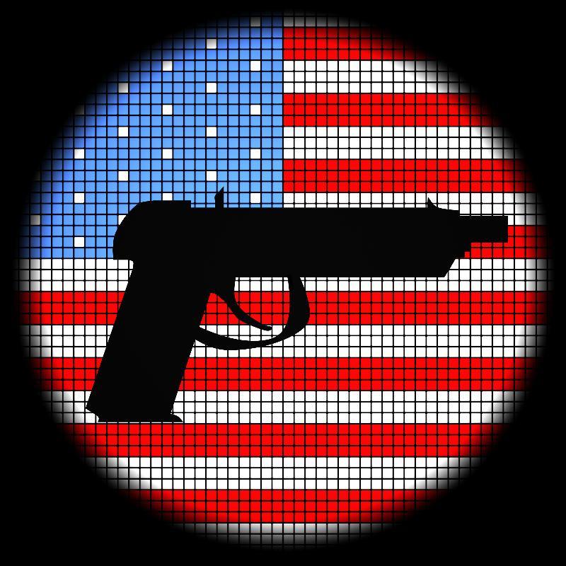 Gun and Flag