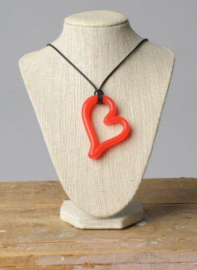 Teethease heart pendant
