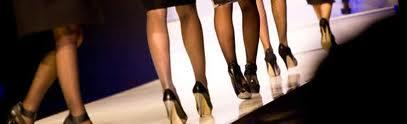 walking the runway black pumps