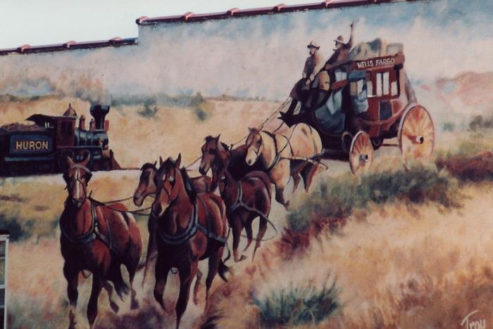Wagon Mural