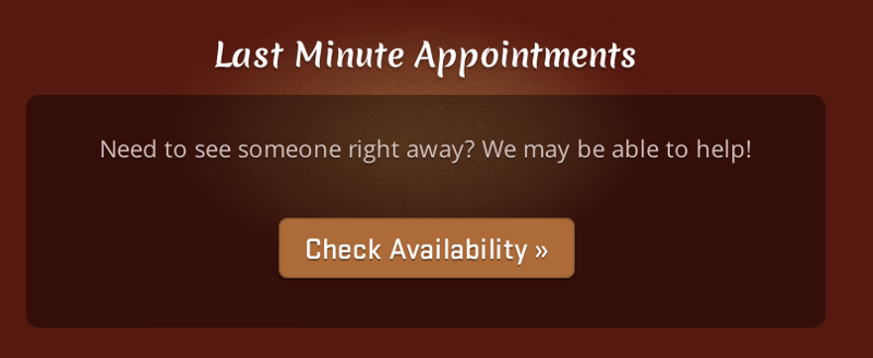 Last minute appointments