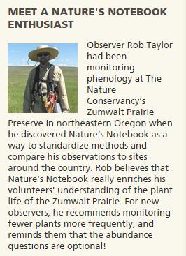 Meet a Nature's Notebook enthusiast