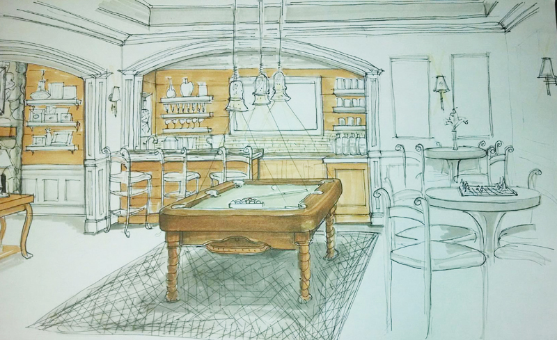 Gameroom Sketch