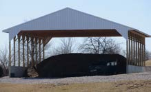 Manure storage facility. Photo courtesy of Martin Co. SWCD.