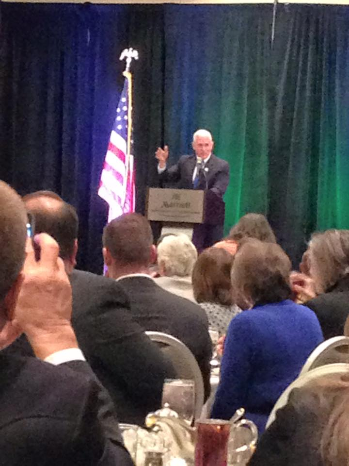 Governor Pence commented on the importance of conservation in agriculture during the inaugural Governor's Ag Conference.