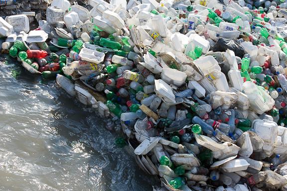 Plastic in Haiti's waterways