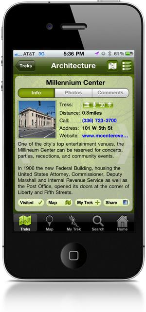 Treks app
