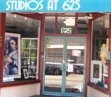 front of studios at 625
