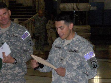 Sanchez reads letter