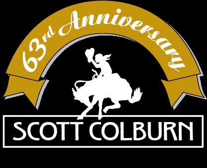 Scott Colburn Boots & Western Wear 63rd Anniversary logo