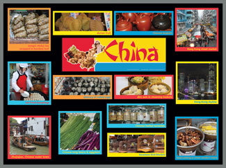 China Food Markets Bulletin Board Kit