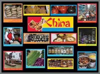 China Food Markets Bulletin Board Kit