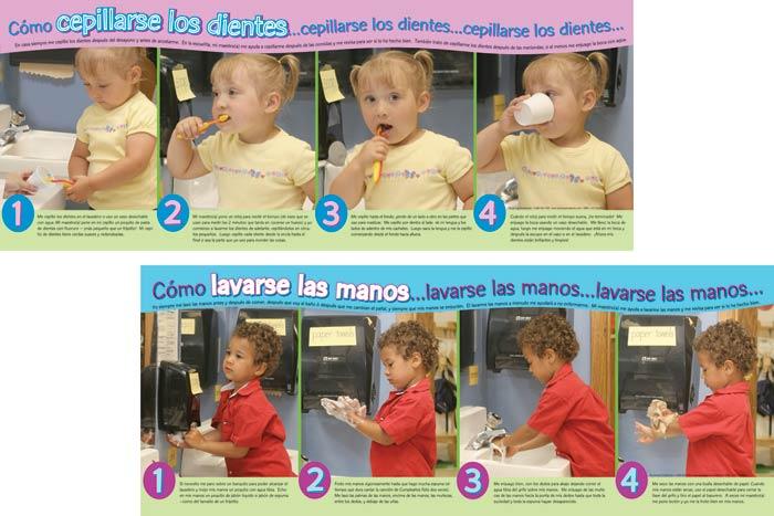 Wash Hands/Brush Teeth Spanish Poster Set