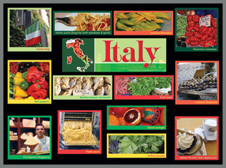 Italy Food Market Bulletin Board Kits