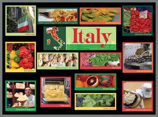 Italy Food Market Bulletin Board Kits