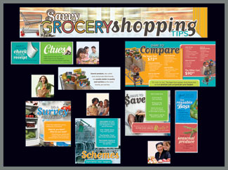 Savvy Grocery Shopping Bulletin Board Kit