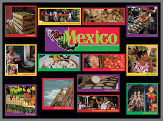 Mexico Food Markets Bulletin Board Kit