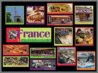 France Food Markets Bulletin Board Kit