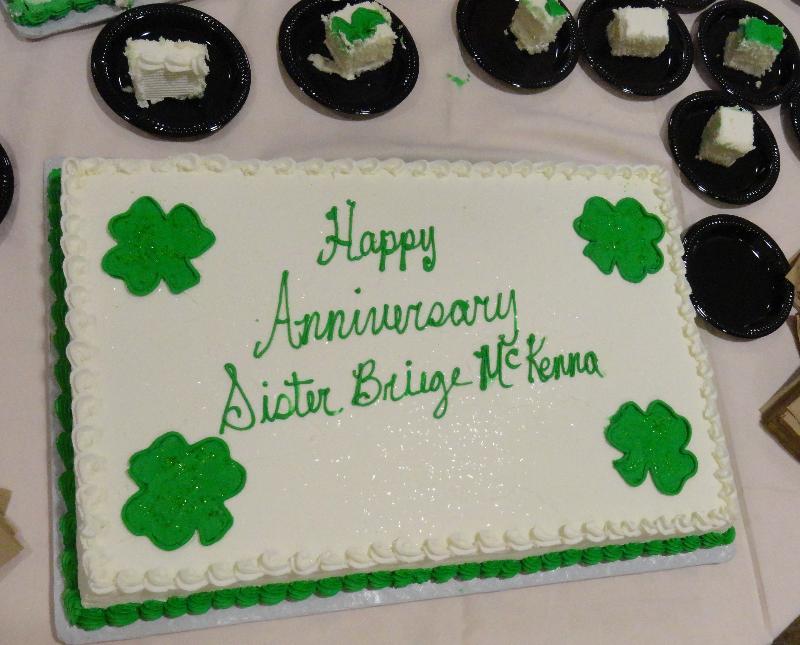 Sr. Briege 50th Ann. Cake