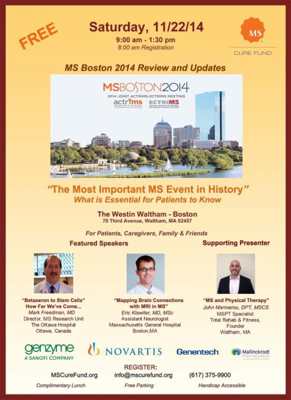 Fall Boston MS Health Fair Waltham, 11/22/14