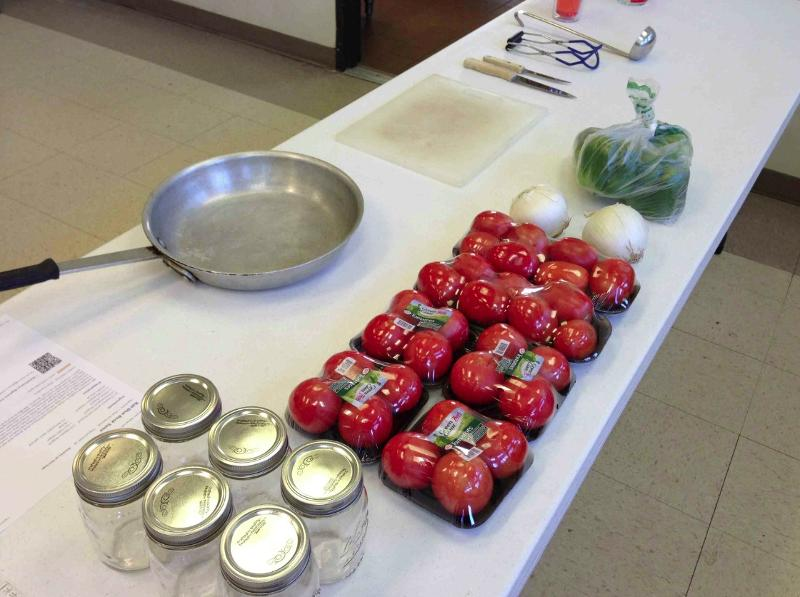 Salsa Ingredients - Canning Class