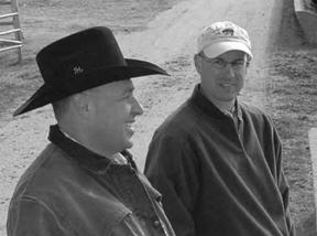 John Jaeger (on left), KSRE Beef Cattle Scientist, and Keith Harmoney, KSRE Range Research Scientist, will serve as hosts for the September 17 workshop.