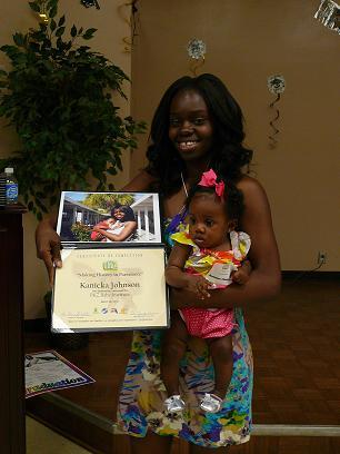 Kanicka Johnson with daughter Kambria