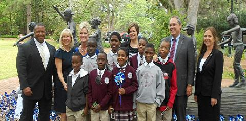 First Lady Ann Scott hosted a child abuse prevention press conference