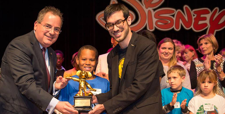 Page 15 Receives Award from Disney