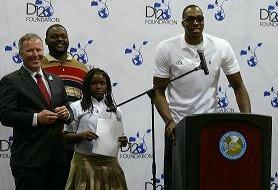 Dwight Howard, Orlando Mayor Buddy Dyer, Phillip Gordon and Bri-Nhiya Upshaw
