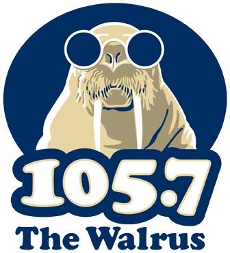 Walrus 105.7 Logo