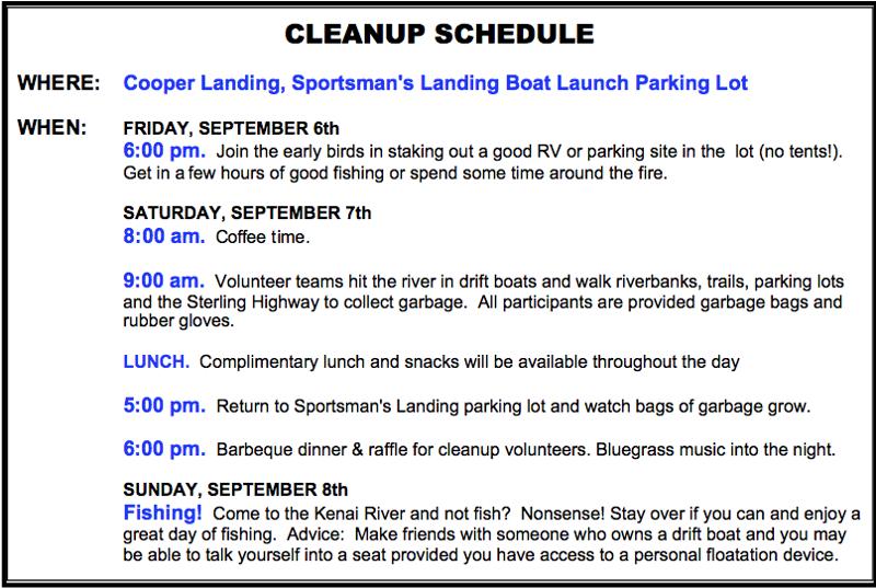 cleanup schedule