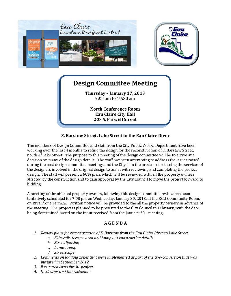 Project Design Mtg Jan '13