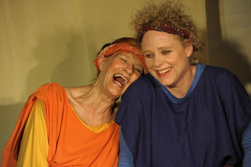 Agnes and Kathleen laughing