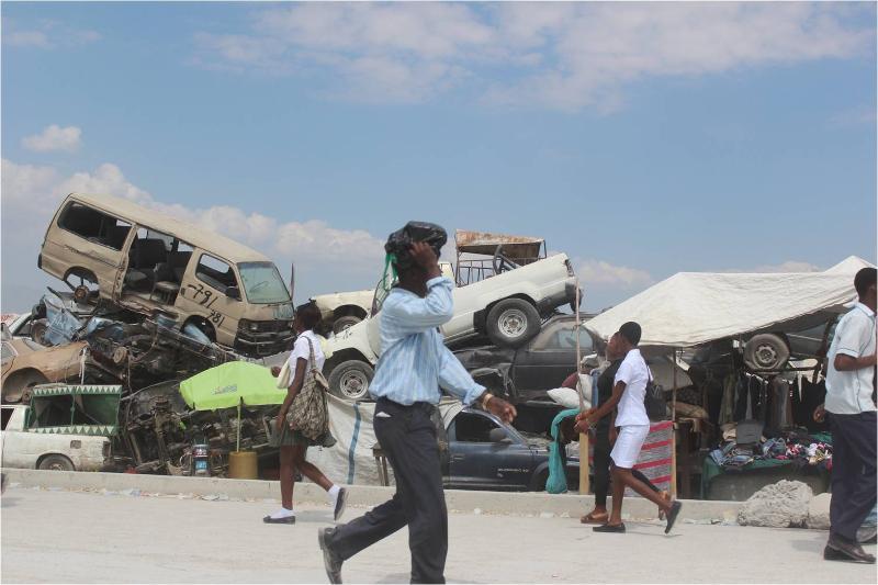 Haiti Car Pile 2013