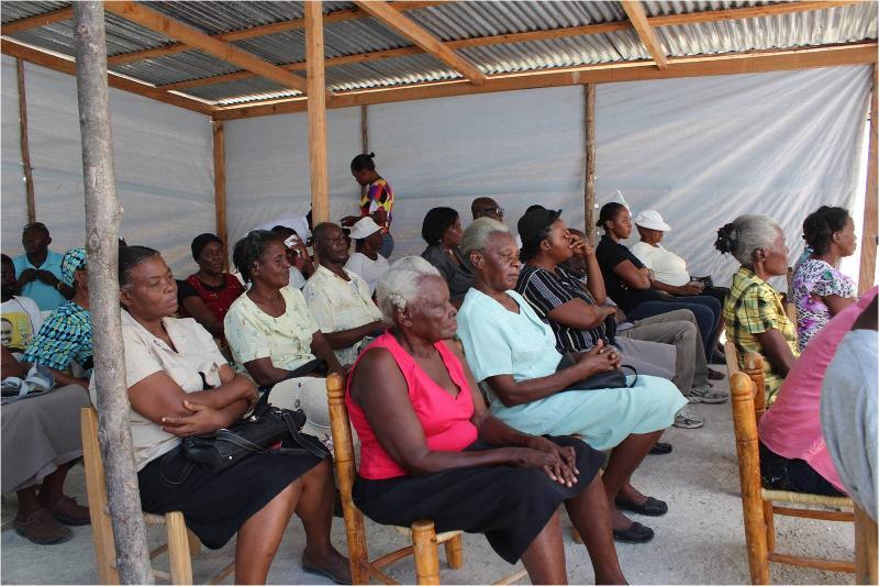 Inside Tent Clinic, Haiti 2013