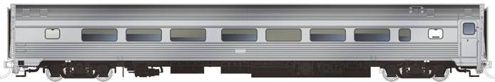 Rapido Budd Coach - Stainless Unlettered